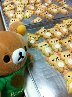 Rilakkuma cookies!!  #kawaii #toy #plush #food #cookies #rilakkuma