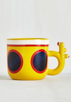 I Want to Warm Your Hands Mug. Whether youre craving green tea, espresso, or any beverage in between, this Beatles mug will be there to lend a loving hand! #yellow #modcloth
