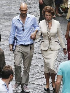 Family connections: The star was being directed by her youngest son Edoardo Ponti for the film based on a play by Jean Cocteau