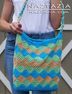 Crochet Entrelec Tote Bag