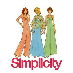 1970s Halter Evening Dress or Jumpsuit Simplicity by CynicalGirl, $14.00