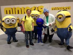 Rick, Morty and Mr Meeseeks meet the Minions at MCM Comic Con London 2015. Rick And Morty