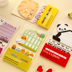 Notebooks & Writing Pads Nice Cute Kawaii Cartoon Animal Finger Unicorn Memo Pad Note Sticky Paper Korean Stationery Cat Planner Sticker School Office Cool In Summer And Warm In Winter