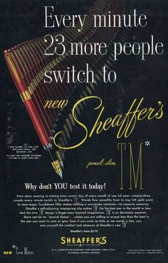 Vintage Sheaffer Ad