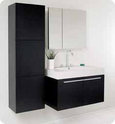 Fresca FVN8090BW Vista Bath Vanity  Black Finish RP by http://john-delgado-dch-paramus-honda.socdlr.us