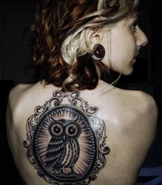 Owl Tattoos For Girls   Cute Owl Tattoo on Girl Back   Cool Tattoos