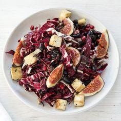 Radicchio-Salat Cobb Salad, Teller, Bunt, Food, Marinated Tofu, Salads, Bad Breath, Figs, Eten