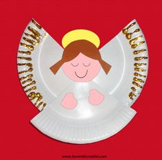 New Craft Christmas Angel Paper Plates Ideas Christmas Angel Crafts, Childrens Christmas Crafts, Christmas Paper Plates, Preschool Christmas, Christmas Activities, Kids Christmas, Holiday Crafts, Kids Crafts, Toddler Crafts