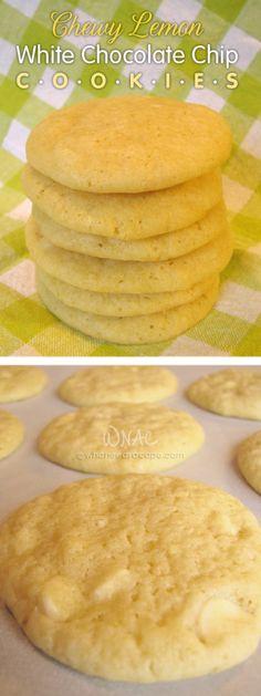 Chewy Lemon White Chocolate Chip Cookies