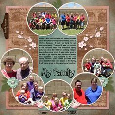 Family Scrapbook Layouts   Family Reunion {MEGA} Collaboration by Various ScrapDelicious ...
