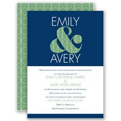 With a Twist - Lapis - Invitation | Invitations By David's Bridal