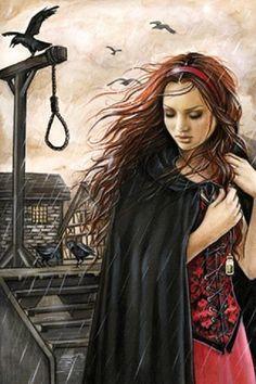 A Day To Come by Victoria Frances Fantasy Witch, Gothic Fantasy Art, Final Fantasy Art, Witch Art, Medieval Fantasy, Luis Royo, France Art, Vampire Art, Deviantart