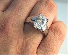 Ladies 14kt white gold wide band engagement ring 090 ctw GVS2
