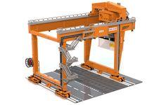 The Rail Mounted Gantry Crane Lego Crane, Small Ladder, Cable Reel, Crane Design, Gantry Crane, Burlington Northern, Lego Design, Lego Creator, Bricolage