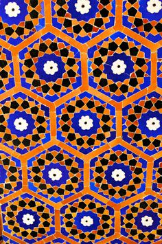 Uzbekistan, Bukhara, Kalon Mosque, Islamic Tile Work | Flickr - Photo Sharing!