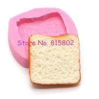 Freies Verschiffen GYL083U Brot-scheibe Silikon Flexible Form Decoden Kawaii Miniatur Form Sweets Polymer Clay Mini Lebensmittel Schmuck
