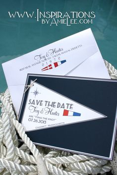 nautical flag save the dates!