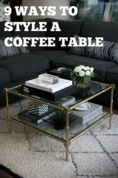 9 Unique ways to add style to your coffee table