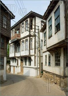 Picture of Old Greek houses in Sinop city, Black Sea, Turkey,  Reminds me of parts of Italy.