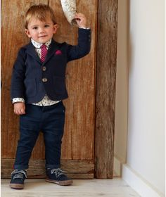 Mamas and Papas Four Piece Blazer Set. Dress your little one for a special occasion with this smart and stylish four piece blazer set.