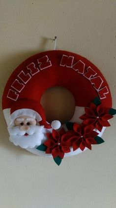 Navidad Christmas Sewing, Diy Christmas Ornaments, Christmas Deco, Felt Ornaments, Xmas, Felt Crafts, Diy Crafts, Deco Wreaths, Garland