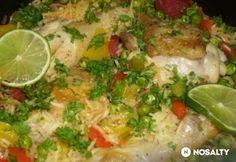 Csirkés-chorizos paella