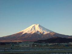 Mt. Fuji from Fujiyoshida-city on 20th Feb.