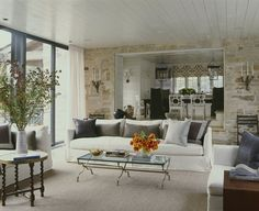 Lake Living Room      Great Room  Living  Eclectic  Transitional by Andrew Brown Interiors