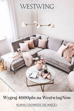 Living Room Interior, Living Room Decor, Living Rooms, Blush Pink Living Room, Pink Room, Small Space Living Room, Small Spaces, Decoration Design, Aesthetic Bedroom