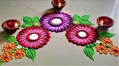 Corner Rangoli Designs with Flowers Easy Rangoli Designs Videos, Easy Rangoli Designs Diwali, Rangoli Simple, Simple Rangoli Designs Images, Rangoli Designs Latest, Rangoli Designs Flower, Free Hand Rangoli Design, Rangoli Border Designs, Small Rangoli Design
