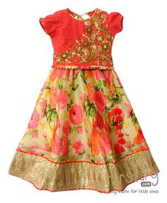 Buy Mimosa Printed Blouse & Lehenga Set Red for Girls (12-24 Months) Online in India, Shop at FirstCry.com - 709582