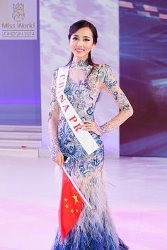 Miss China PR World 2014 Evening Gown: HIT or MISS? http://thepageantplanet.com/miss-china-pr-world-2014-evening-gown/