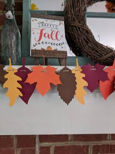 Items similar to Fall leaf garland for fireplace mantel, Autumn colors, Rustic fall decor, Autumn Decor on Etsy Fall Leaf Garland, Fall Banner, Floral Banners, Rustic Fall Decor, Baby Shower Fall, Autumn Crafts, Happy Fall Y'all, Fireplace Mantel, Fireplaces