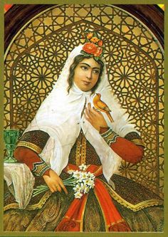 Malek Jahan Khanom, Mahd-e Olia was a Persian princess of the Qajar… Persian Princess, Persian Beauties, Ancient Persian, Persian Culture, Iranian Art, Calligraphy Art, Islamic Calligraphy, Outdoor Art, Portrait Art
