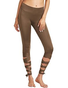 CRISSCROSS leggings, in BROWN *this piece will be altered for costuming purposes*
