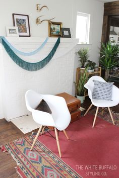 Spring Refresh with White Eames-style Armchairs