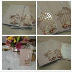 Gold Paper for Cages, Ribbon & Birdie