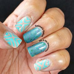 """""""My Manicure: Siren's Song  The song, thought to be irresistibly sweet, Must have been to me, a meek bleat, For this beauteous sparkly, glittered teal, Has…"""""""