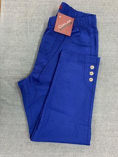 Spodnie z bengaliny Cevlar B03 kolor chabrowy - Big Sister