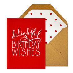 Delightful Birthday Card with Polka Dot Liner