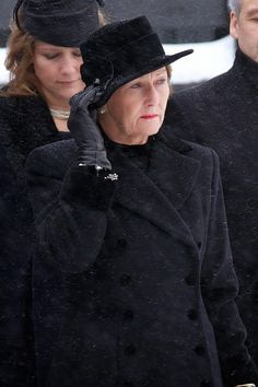 Norwegian Royals attends the Funeral Service of Mr Johan Martin Ferner on February 2, 2015 in Oslo, Norway