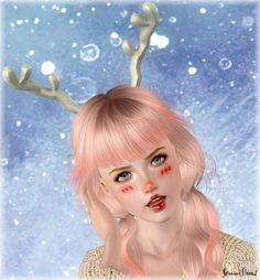 Reindeer horns accessory by Jennisims