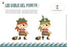 Ilustración, orlas, Invitaciones bautizo, comunión, cumpleaños, diseño grafico: LOS DIBUS DEL PIRATA #1