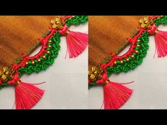 saree kuchu #176 // #bridal #sareekuchu design tutorial for beginners / Siri creations - YouTube Saree Tassels Designs, Saree Kuchu Designs, Mehndi Art Designs, Blouse Designs, Embroidery On Kurtis, Kurti Embroidery Design, Hand Embroidery, Devotional Quotes, Hardanger Embroidery