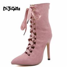 19.85$  Watch here - http://aligvb.shopchina.info/1/go.php?t=32810611447 - High Quality Gladiator High Heels Women Pumps Genova Stiletto Sandal Booties Pointed Toe Strappy Lace Up Pumps Shoes Woman Boots 19.85$ #buymethat