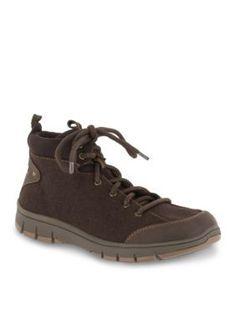 Easy Street Brown Flannel Sport Lyla Tie Casual Shoe