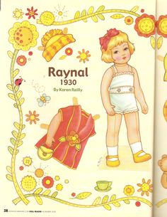 Here is a two page paper doll from the artist Karen Reilly published from Doll Reader Magazine November 2008. This paper doll features...