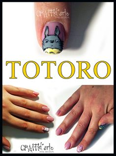 totoro nailart