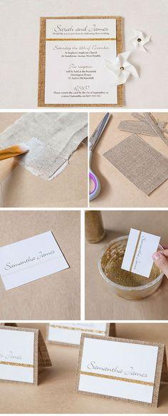Linen Wedding Stationery | DIY Winter Wedding Invitations on a Budget