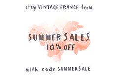 ➽ French Summer Sale >>> 10% off  par Marielle sur Etsy